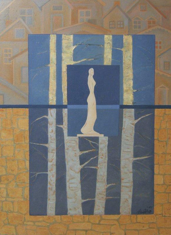 Kokkola - puistossa - maalaus