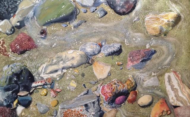 Vesipyörteitä - akvarelli