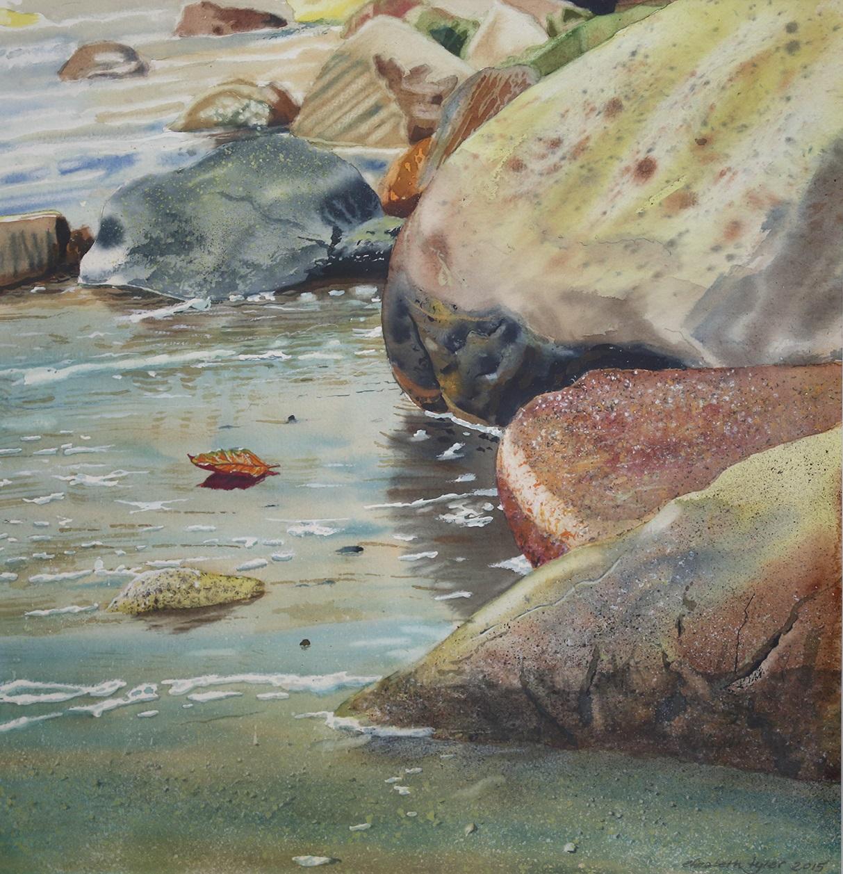 Laskuvesi - akvarelli