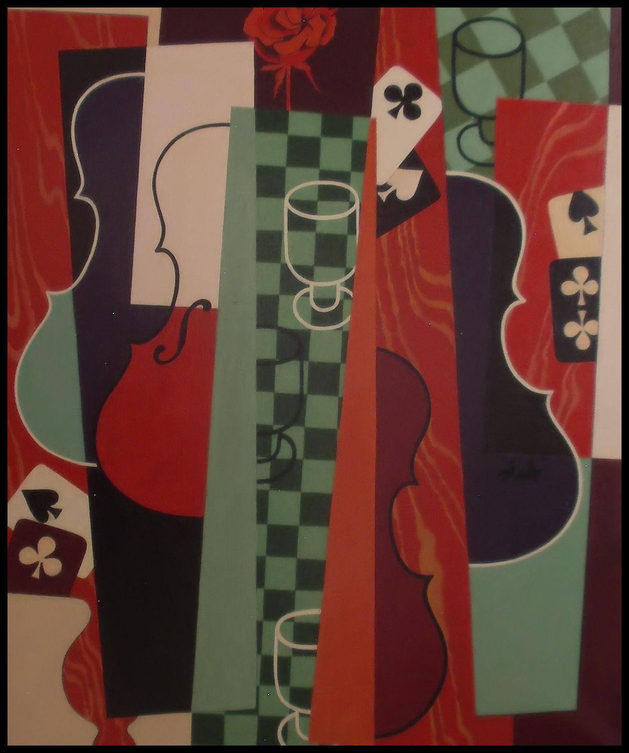 Pelaajan ruusu - maalaus