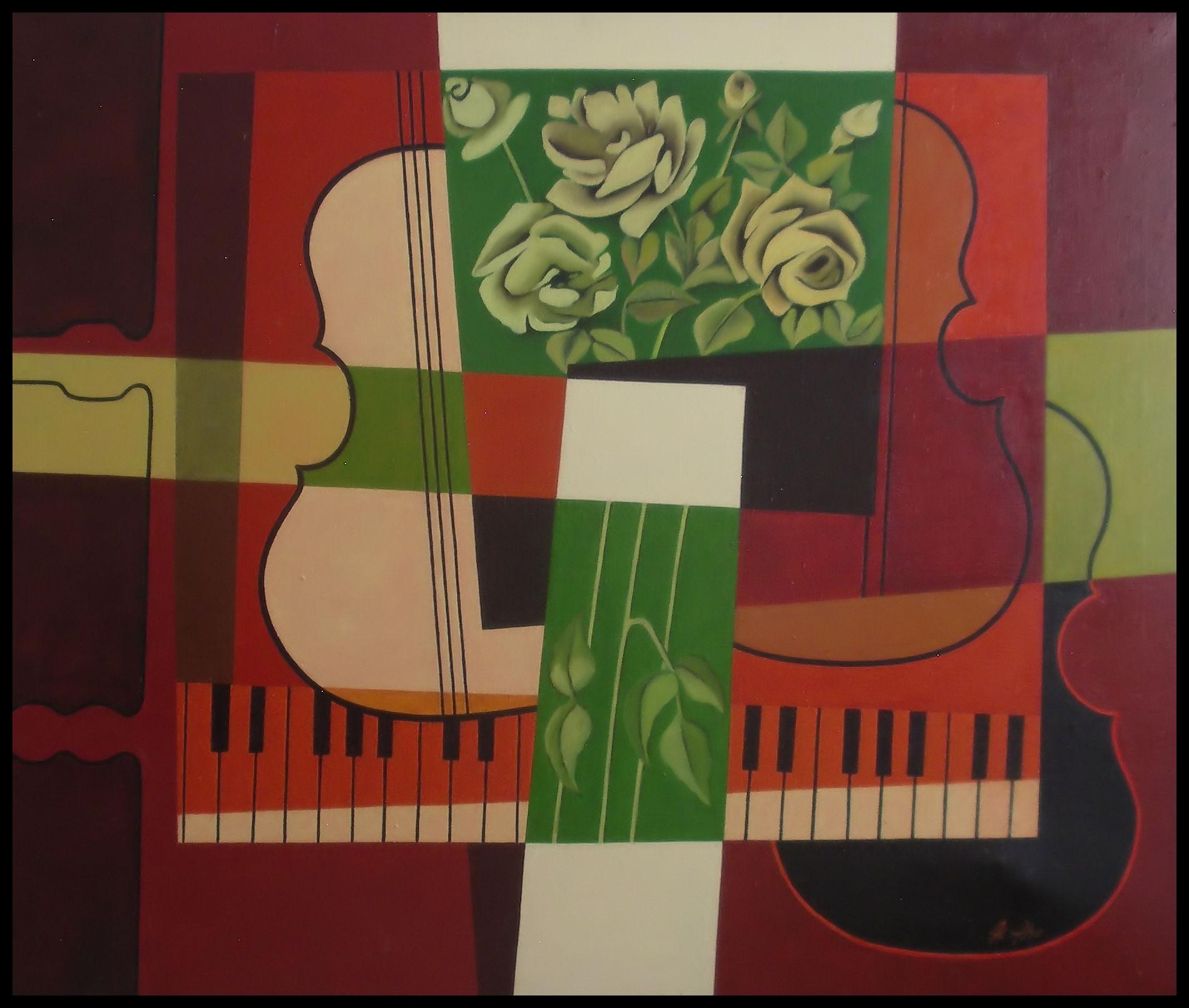 Kukkia soittajalle - maalaus