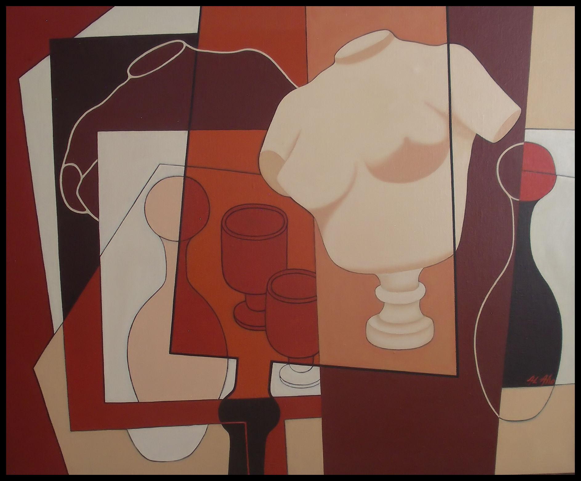 Torso pöydällä - maalaus